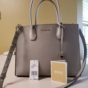Michael Kors Gray Leather Purse